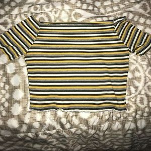striped yellow crop top!